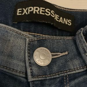 Express Midrise Distressed Jeans Jeggings